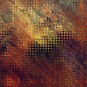art abstract pixel geometric pattern background in brown. orange, grey, black and green colors