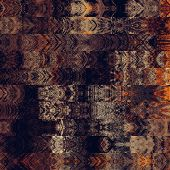 art abstract colorful graphic background; geometric border stylized pattern in brown, gold, orange a
