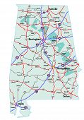 Alabama Interstate Highway Map