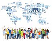 Global People Celebration Success Support Teamwork Concept