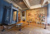 interior room of Chambord castle