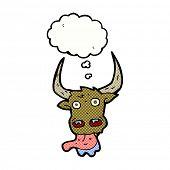 foto of bull head  - cartoon bull head - JPG