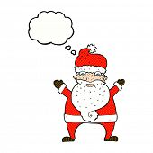 cartoon unhappy santa