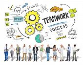 Teamwork Team Together Collaboration Business People Technology Concept