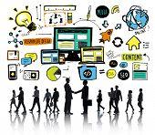 Business People Responsive Design Partnership Handshake Concept