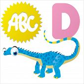 picture of dinosaur skeleton  - D is for vector cartoon Dinosaur isolated  - JPG
