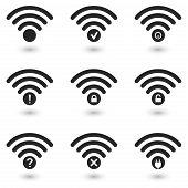 Creative WiFi Icons Set