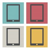 Digital Tablet Eletronics Device Technology Icon Vector Concept
