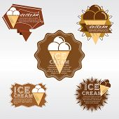 Set of Ice Cream Badge.