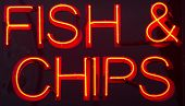 Fish And Chips Restaurant Neon Sign