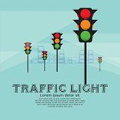 Traffic Light Vector Illustration.