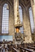 Inside St. George's Minster In Dinkelsbuehl