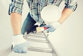 picture of paint pot  - interior design and home renovation concept  - JPG