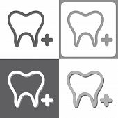 Tooth icon, Vector Illustration