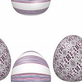 Seamless Decorated Easter Eggs Pattern
