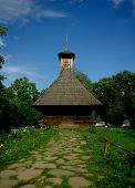 Traditional wood church in Romania