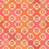 Abstract geometric seamless pattern in spring colors