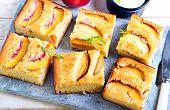 Nectarine Polenta Cake