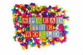 Spread The World Word In Colorful Stone