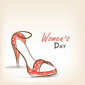 Beautiful high heeled ladies shoe for International Women's Day celebration.