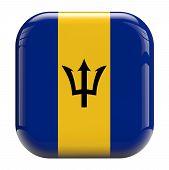 Barbados Flag Icon Image