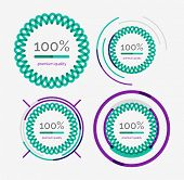 Thin line neat design logo set, clean modern concept, premium quality stamp