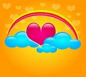 Sweet Heart In Clouds