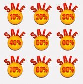 Sale set of percent