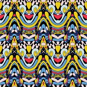 funky psychedelic seamless pattern
