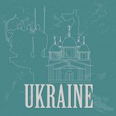 Ukraine infographics, statistical data, sights