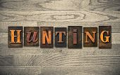 Hunting Wooden Letterpress Concept