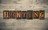 Hunting Wooden Letterpress Concept