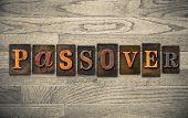Passover Wooden Letterpress Concept