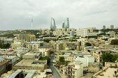 panorama of the city of Baku, Azerbaijan