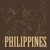 Philippines. Retro styled image