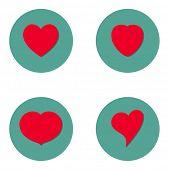 heart flat icon design