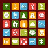 Travel And Vacation Vector Icons