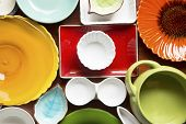 Colorful Dishes And Utensils