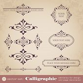 Calligraphic elements for design and page decoration - set 1
