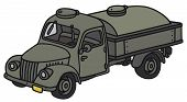 picture of tank truck  - Hand drawing of an old military tank truck  - JPG