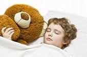 Boy Sleeping With Toy Bear