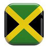 picture of jamaican flag  - Jamaica flag isolated symbol icon on white - JPG