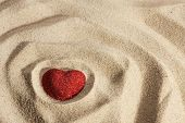 Symbolic Heart In The Sand