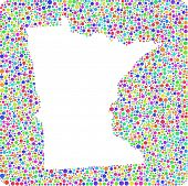 Map of Minnesota in a square icon