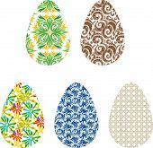 5 flat easter eggs