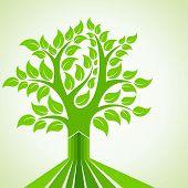 Abstract Tree Design - vector illustration