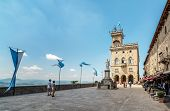 San Marino. Liberty Square, In Front Of The Government Palace