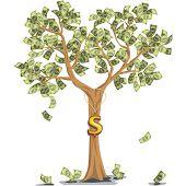 Money Tree With Dollars
