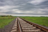 Railway Track In The Field