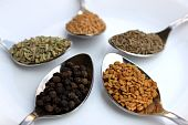 Assortment Of Dry Spices, Close Up
